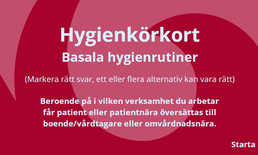 Hygienkörkort - basala hygienrutiner